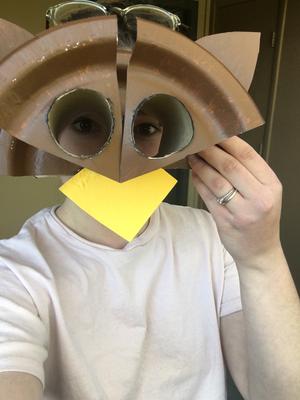 Owl Craft 2 BioPark Connect Raptors Wearing Mask