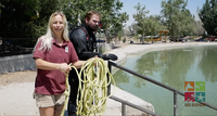 ABQ BioPark Team Investigates Water Quality Issue in the Model Boat Pond
