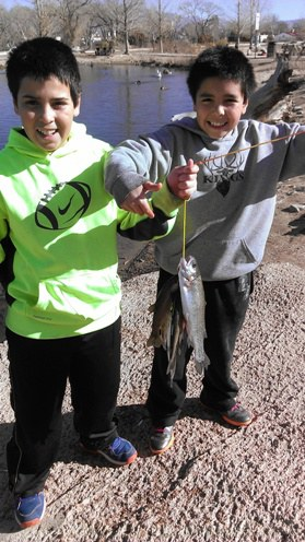 Kids Fish at Tingley Beach
