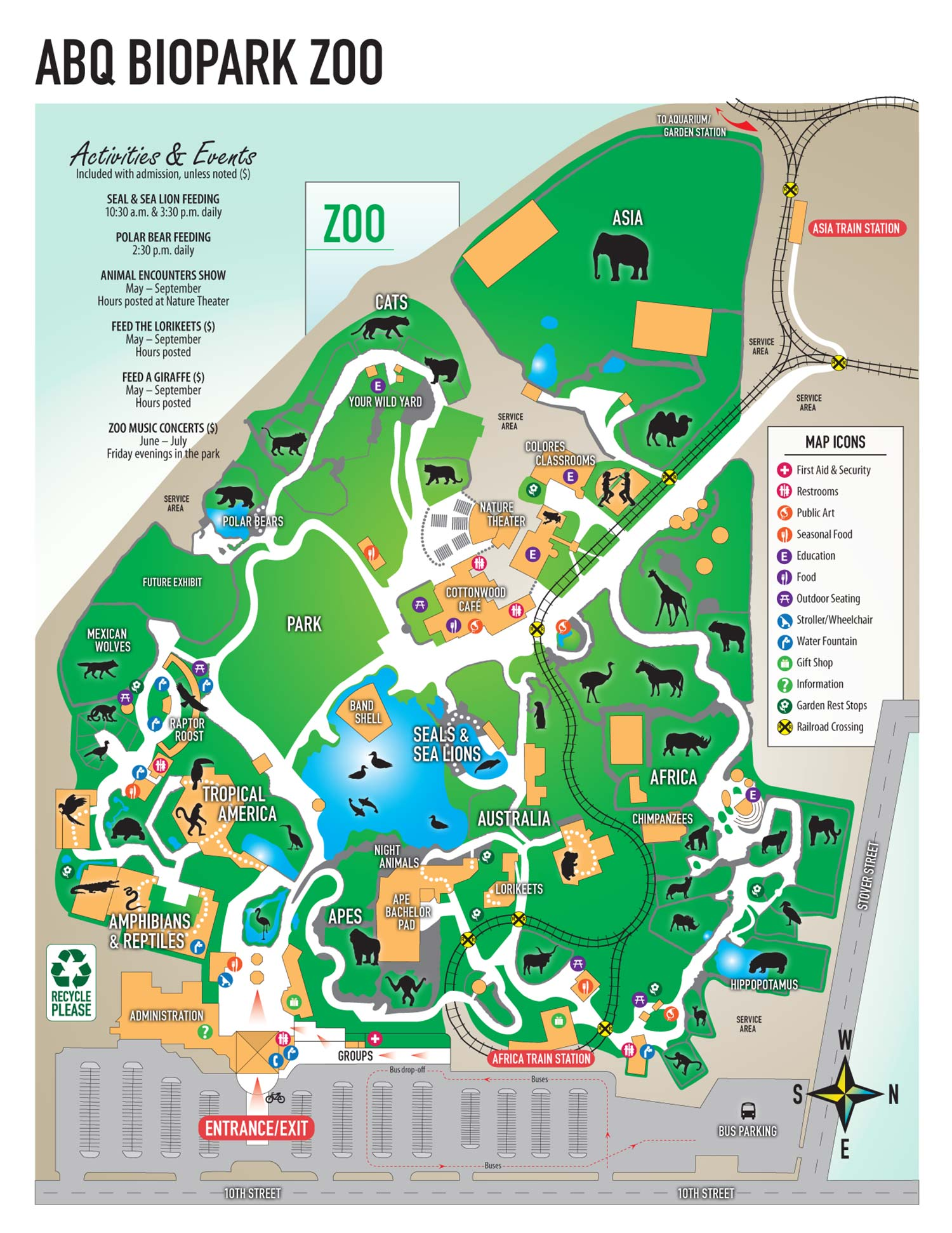 getting here - Abq Biopark Botanic Garden