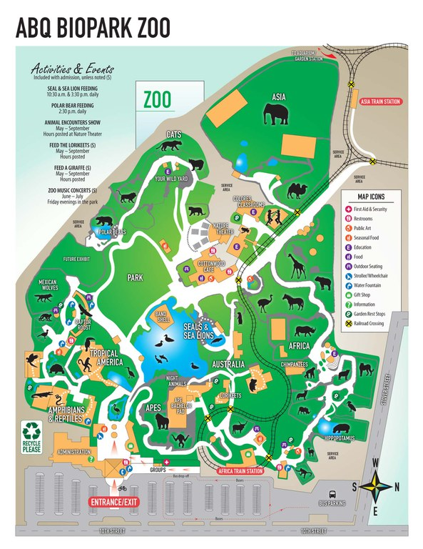 Map of the ABQ BioPark Zoo