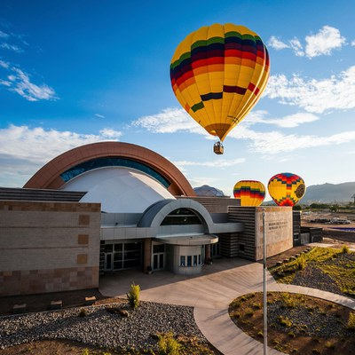 Albuquerque's Birthday Celebration - Lasers at the Balloon Museum