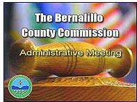 Image of the Bernalillo County Commission televised Broadcast logo