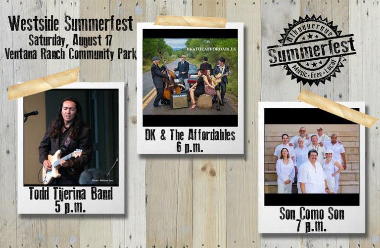 2019 Westside Summerfest - Opening Bands