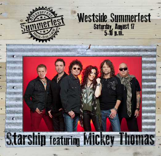 2019 Westside Summerfest - Starship ft Mickey Thomas on Wood