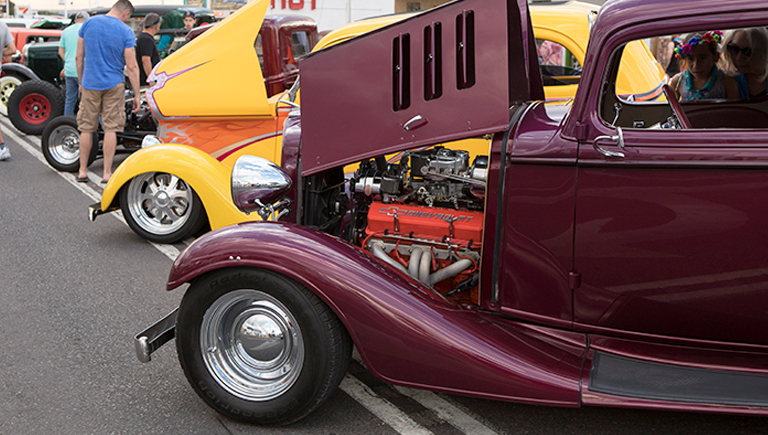 Car show on Central Ave.