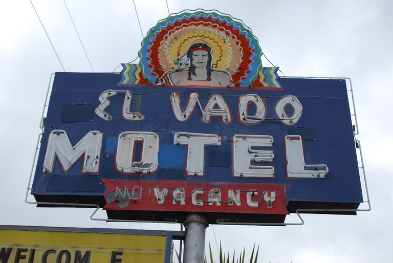 El Vado Motel sign
