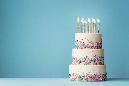 Blank Birthday Cake