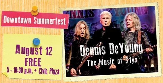 2017 Downtown Summerfest Dennis DeYoung