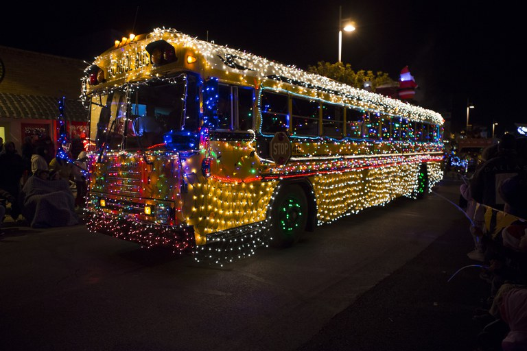 Twinkle Light Parade Bus