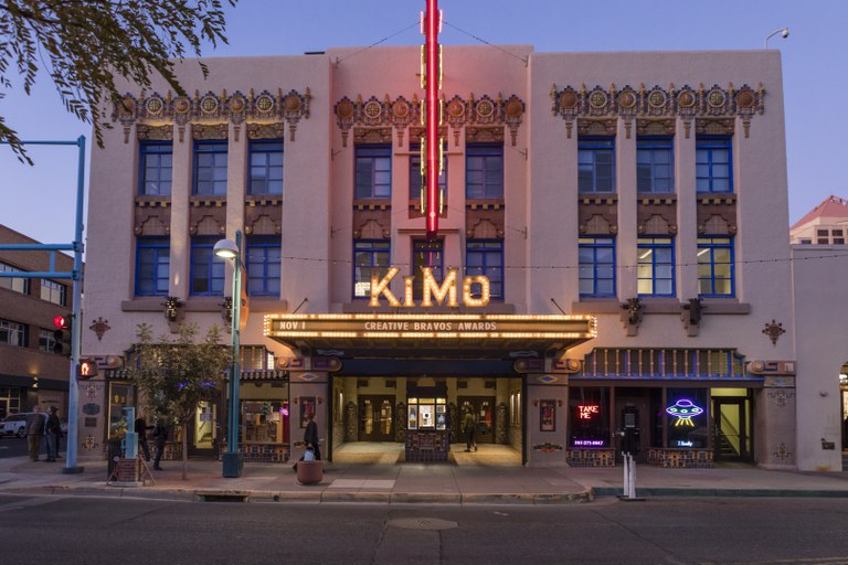 KiMo Theatre - Marquee at Dusk