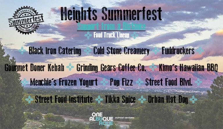 2020 Heights Summerfest - Food Trucks