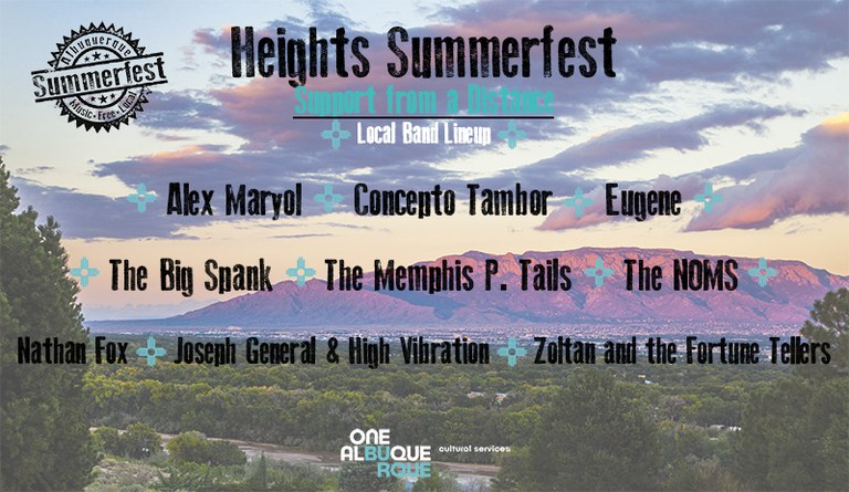 2020 Heights Summerfest - Bands