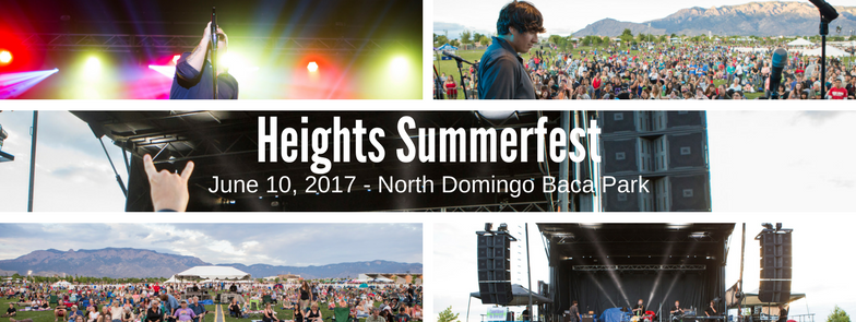Collage of images from Heights Summerfest.