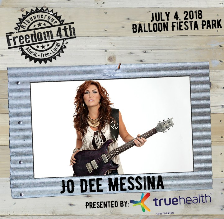 2018 Freedom 4th Headliner Jo Dee Messina on Wood and Tin with sponsor