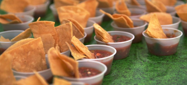 Salsa Fiesta: Salsa Cups with Salsa