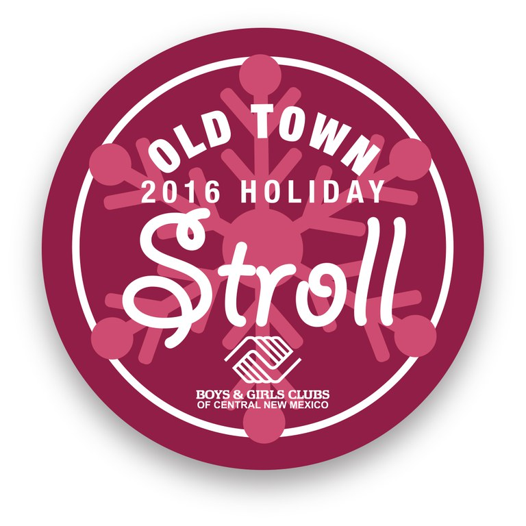 Holiday Stroll Button