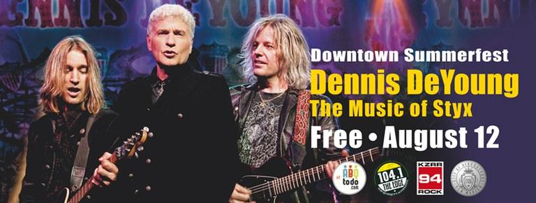 2017 Downtown Summerfest Dennis DeYoung Cover