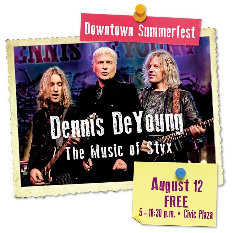 2017 Downtown Summerfest Dennis DeYoung logo