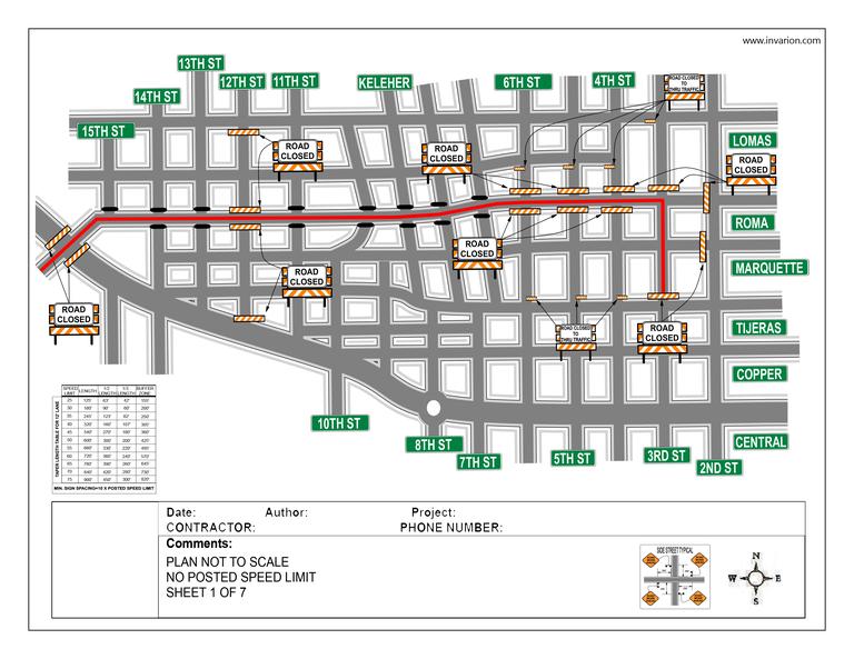 Traffic Control Plan Example 1