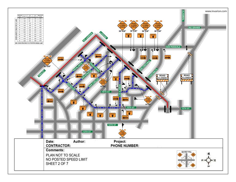 Traffic Control Plan Example 3
