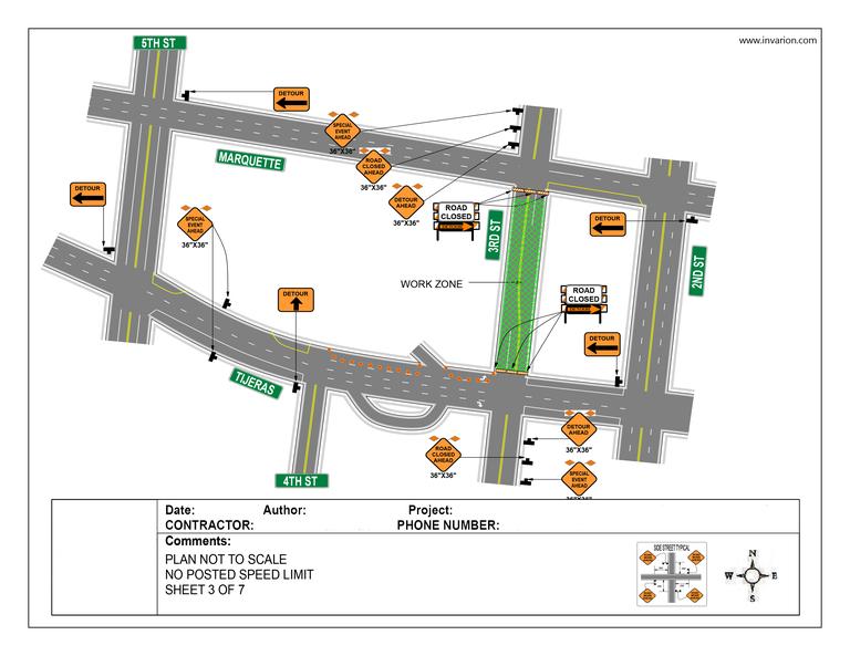 Traffic Control Plan Example 4