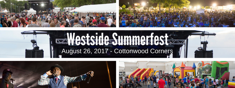 Collage of images from Westside Summerfest.
