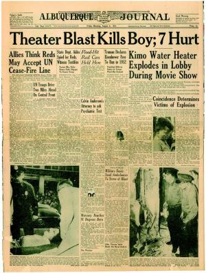 August 3rd. 1951, Albuquerque Journal, front page