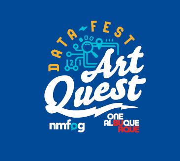 Datafest: Art Quest Logo Blue