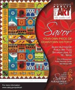 The City of Albuquerque Public Art Program presents a silent auction of Public Art tiles.