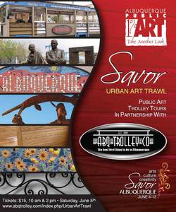 ABQ Trolley Co. is teaming up with the City of Albuquerque Public Art Program to present the Urban Art