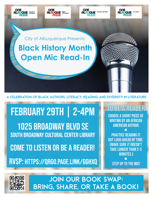 Black History Month Open Mic Read-In