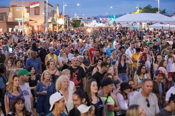 A photo of a recent Albuquerque Summerfest Series outdoor concert.