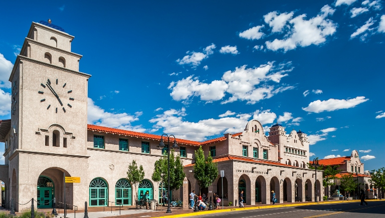 A photo of the outside of the Alvarado Transit Center.
