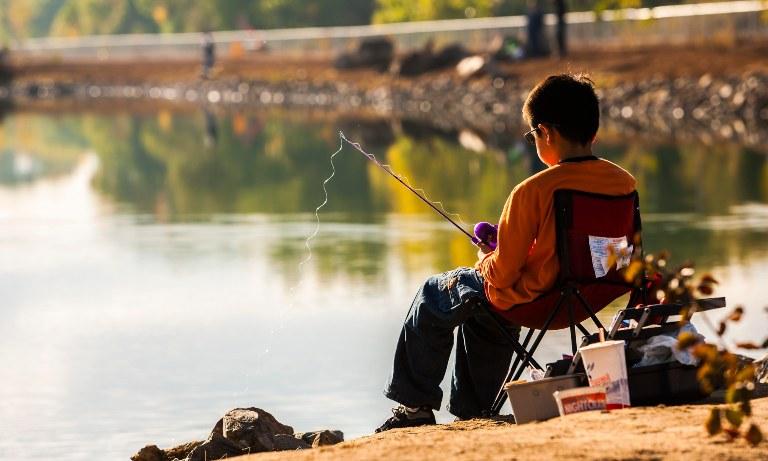 Boy Fishing at Tingley Beach