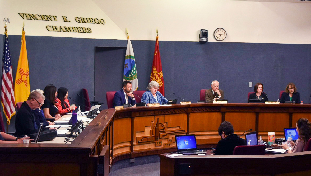 A photo of the City Council in session.