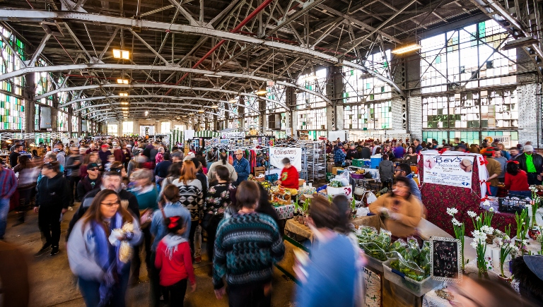 The interior of the Railyard Market