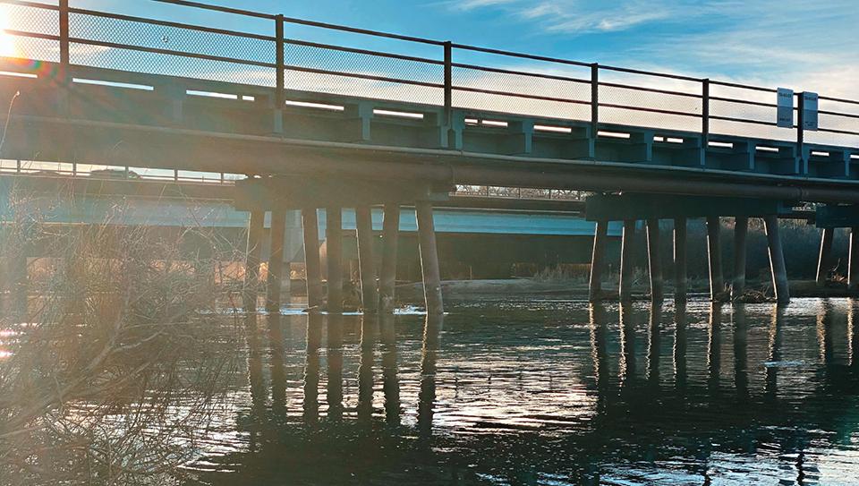 A bridge crossing the Rio Grande River