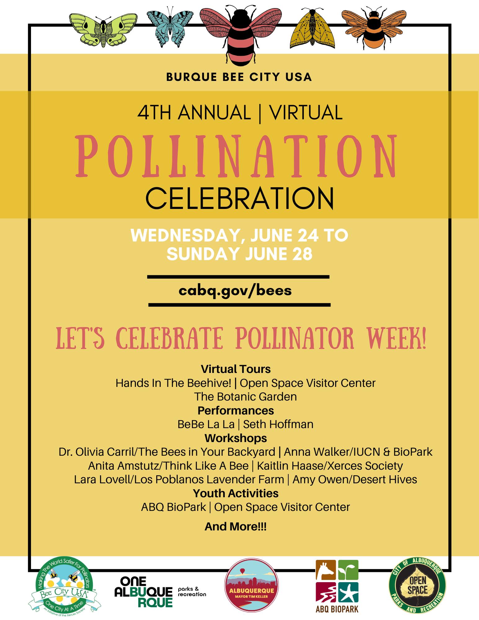 A JPG of Pollinator Celebration: Flyer Image.