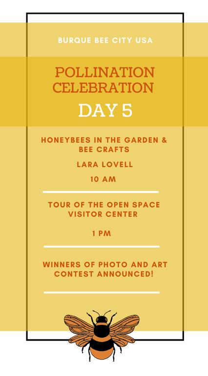 Pollination Celebration: Day Five Agenda