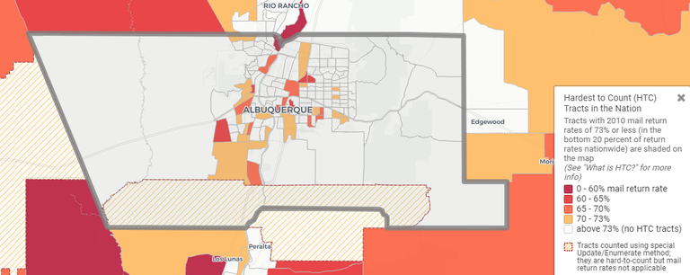 Hard to Count Communities Map for the 2020 Census