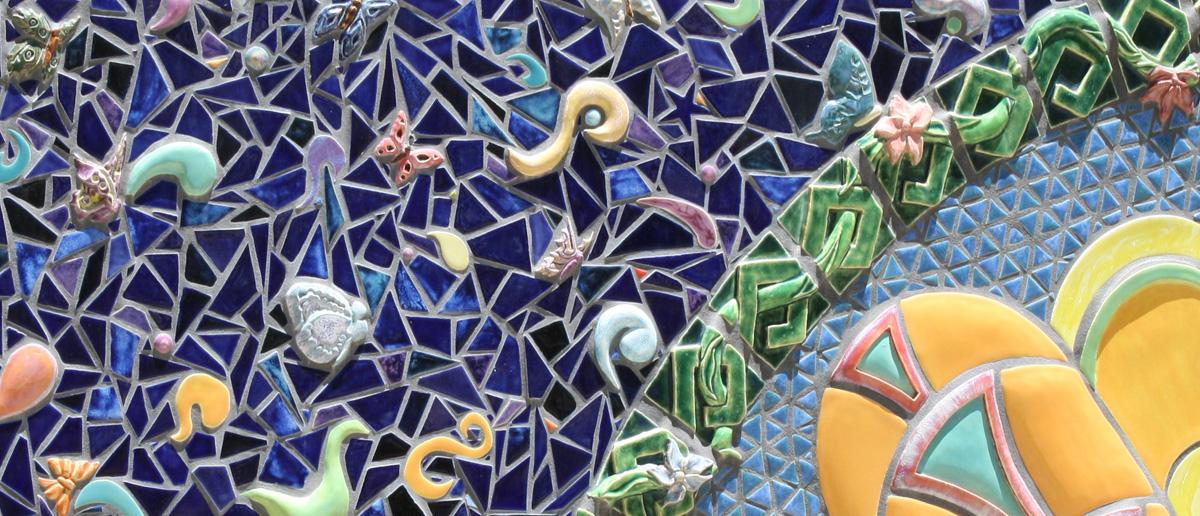 Tile mosaic in Albuquerque