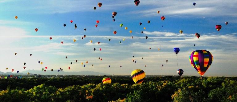 Hot Air Balloons Over the Bosque