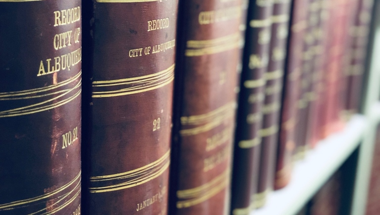 Record books from the City Clerk's Office