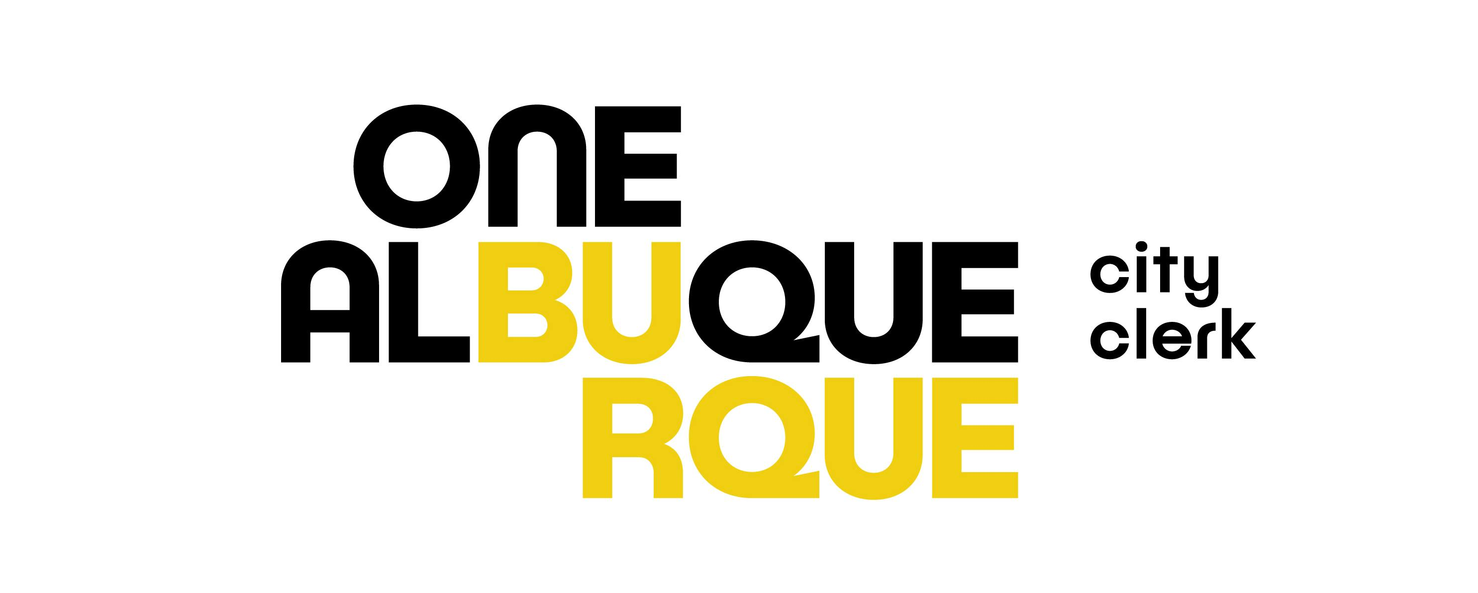 The One ABQ Clerk Horizontal Logo