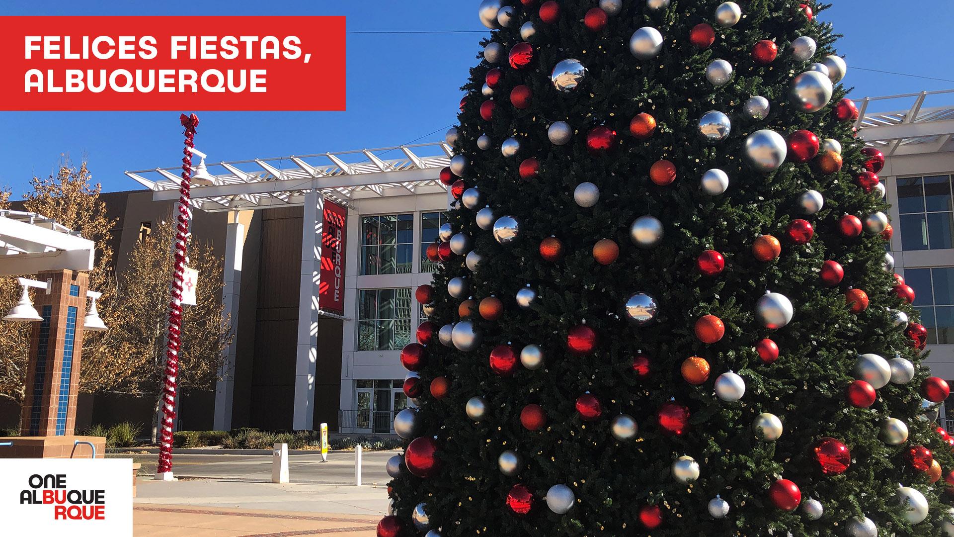 Civic Plaza Holiday Desktop Background - Spanish