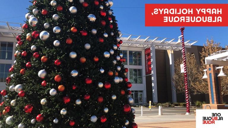 Civic Plaza Holiday Zoom Background