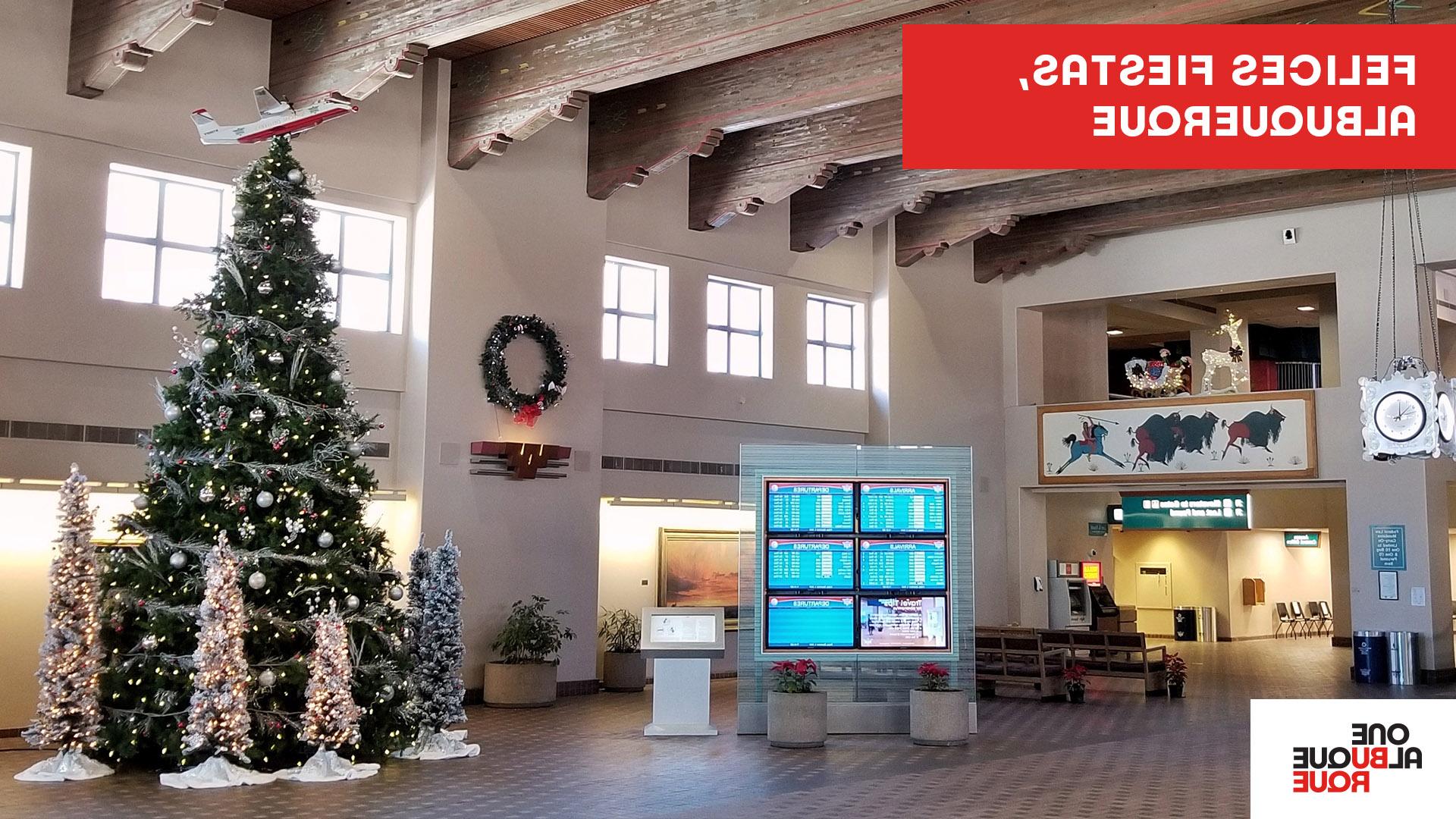 Sunport Holiday Zoom Background - Spanish