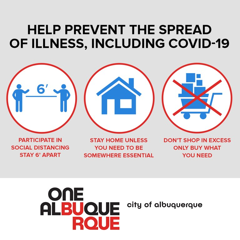 Help Prevent the Spread of Illnesses by social distancing, staying home, and only buying what you need.