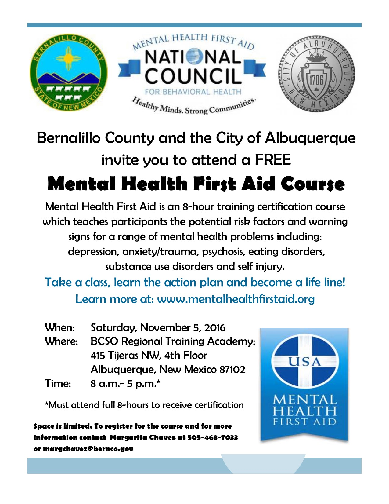 Mental health first aid course city of albuquerque mental health first aid course xflitez Images